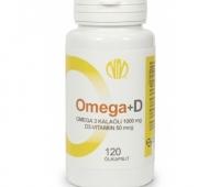 Omega 3 + D3 50mcg kalaõlikapslid, 120 kapslit